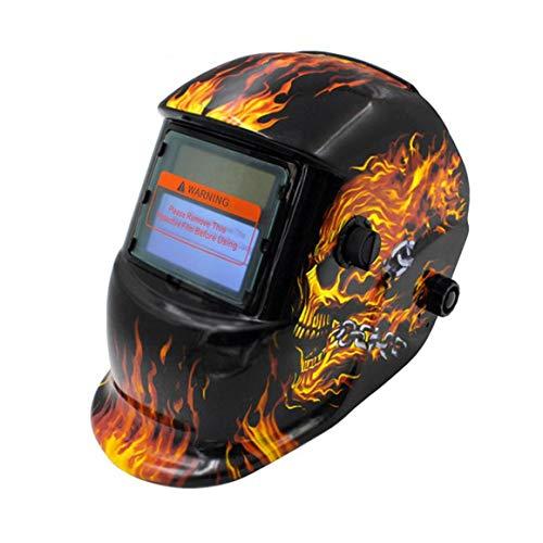 Funnyrunstore Automático Variable Soldadura fotoeléctrica Máscara Soldador Soldadura Soldadura Argón Soldadura por arco Protección laboral Protección Pantalla Cráneo