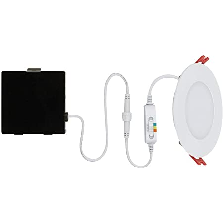 Commercial Electric Ultra Slim 4 In Color Selectable Canless Led Recessed Kit