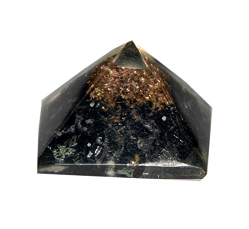 3Inch Spiritual Elementz Reiki Charged Selenite Orgone Pyramid with Clear Crystal Gemstone Copper Metal//EMF Protection Meditation Yoga Energy Generator