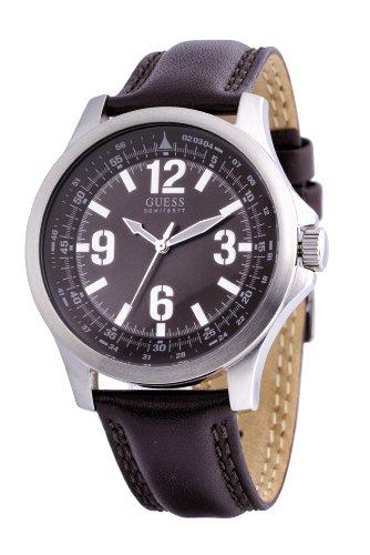 Guess Herren-Armbanduhr XL Skyline Analog Leder W65017G2