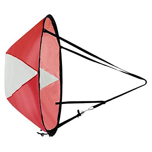 SANGSHI Vela para canoa, barco de kayak, plegable, para verano, surf, remo o ventana