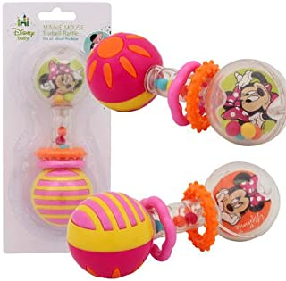 Minnie Mouse Barbell Rattle