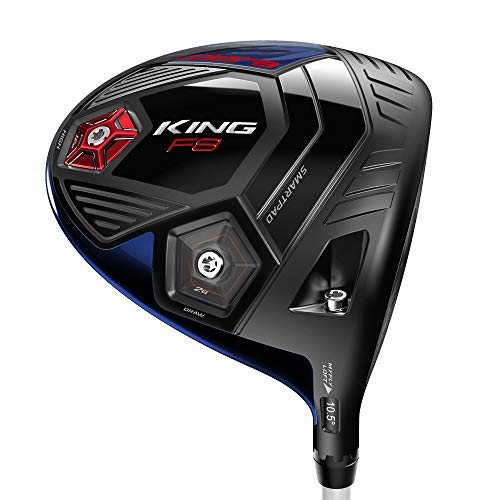 Cobra King F8 Volition Blue/Red Adjustable Driver - 9-12 Degree - Right Hand (Right, Aldila Blue NV, Stiff)
