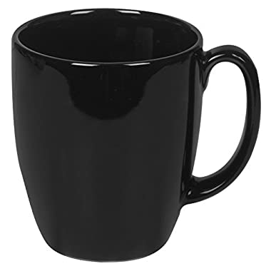 Corelle Livingware 11-Ounce Mug, Black (Pack of 6)
