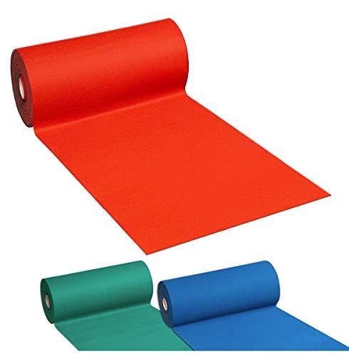 Alfombra de moqueta disponible en 3colores: verde, rojo y azul, con base antideslizante, anchura de 100cm, se vende por metro, 100 % fabricada en Italia
