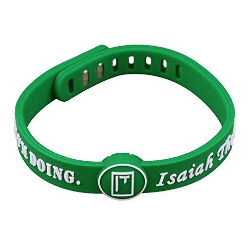ZWH NBA Celtics Nº 4 Thomas Firma pequeña Pulsera Pulseras de Silicona de Baloncesto (Color : White)