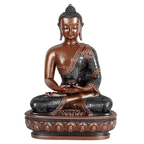 TPCYAN Buddha Bronze, Amitabha Buddha Shakyamuni 17CM/21CM/31CM, Living Room Decorations, Home Crafts (Size : 17cm)