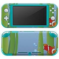igsticker Nintendo Switch Lite 専用 デザインスキンシール 全面 任天堂 スイッチ ライト 専用 ゲーム機 カバー アクセサリー フィルム ステッカー エアフリー 001421 その他 魚 海 海藻 [video game] [video game]