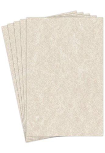 Natural Cream Stationery Parchment Paper | 24 Lb Bond / 60 lb Text / 90 GSM Paper | 50 Sheets Per Pack | 11� x 17� Inches