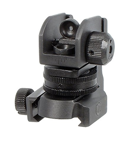 UTG Mil-Spec Sub-compact Rear Sight w/Full W/E Adjustment