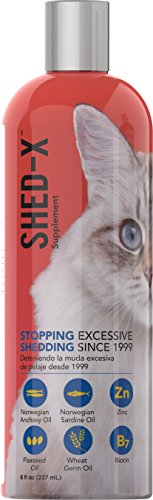 Shed-X Dermaplex Liquid Daily Supplement for Cats – 100% Natural – Eliminate Excessive Shedding with Daily Supplement of Essential Fatty Acids, Vitamins and Minerals (8oz)