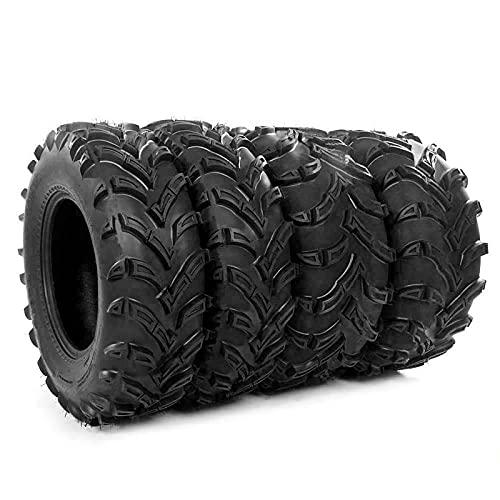 MOTOOS Set of 4 All Terrain ATV UTV Tires 26x9-12 Front & 26x11-12 Rear 6-PR Tubeless