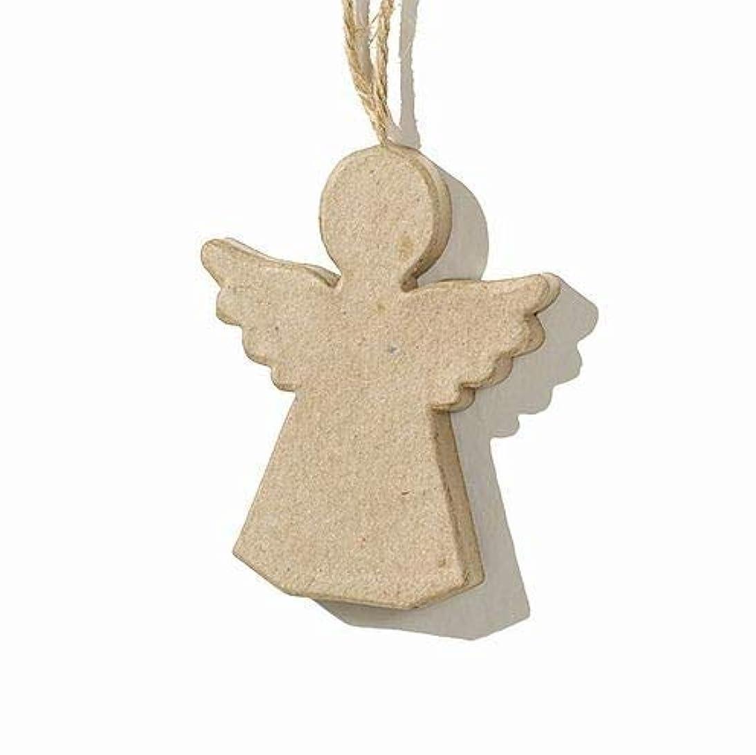Efco Pendant Angel, Papier-Maché, Brown, 7.5 x 8 x 1 cm