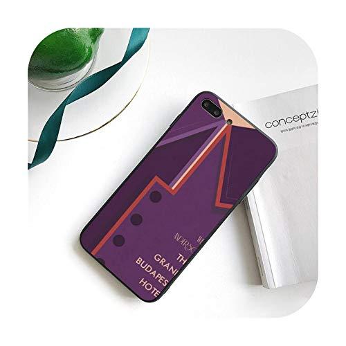 Wes Grand Budapest - Funda para iPhone 11 8 7 6 6S Plus 7 Plus 8 Plus X XS MAX 5 5S XR 12 11 Pro max se 2020 Funda Cover-a11-For iphone11Promax