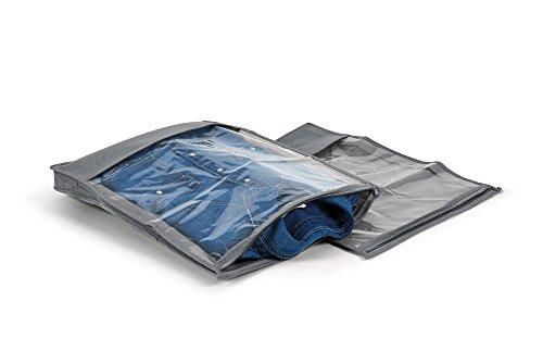 Perfetto Più Easybag Kleidersack für Hemden und Pullover, Vliesstoff, Aschgrau, 33,0x 45,0x 5,0cm