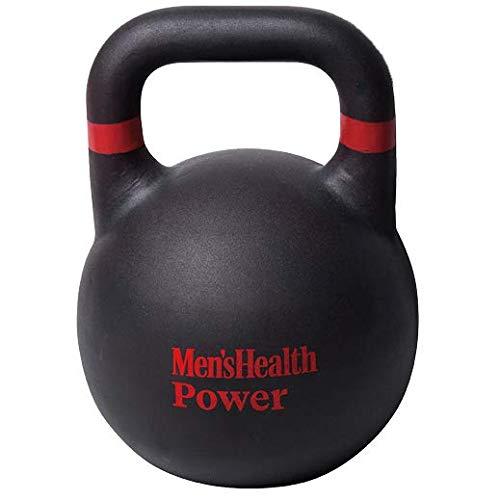 Men s Health POWER Pro Style - Pesa rusa para hombre, perfecta para entrenamientos de HIIT y prácticas funcionales de fuerza y acondicionamiento físico, rojo negro
