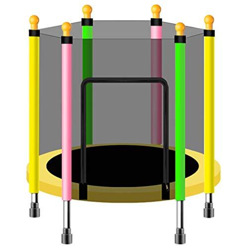 XYWLYLHOME Trampolino Indoor per Bambini - Mini Trampolino - con Scudo di Sicurezza - Trampolino da Giardino - Trampolino All'Aperto - in Grado di Sopportare 175 kg