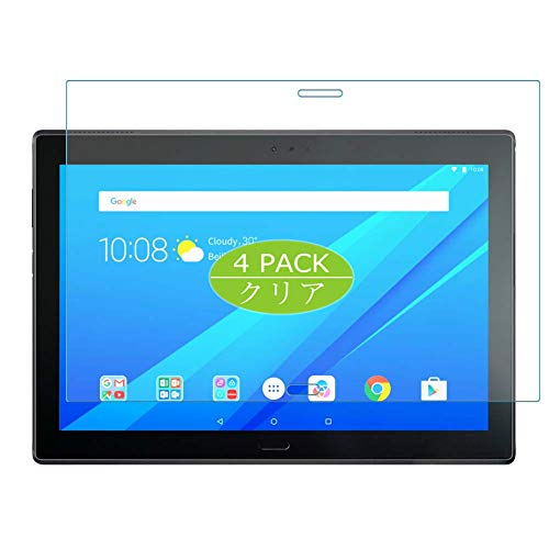 Vaxson Pack of 4 Screen Protectors Compatible with Lenovo Tab 4 10 Plus TB-X704, Screen Protector Bubble-Free TPU Film [Not Tempered Glass]
