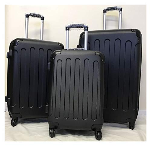 GXK Hard Shell 4 Wheel Spinner Suitcase Luggage Case Trolley Cabin Carry on Pc Black (Color : Large)