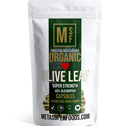 Olive Leaf (1000mg) | 120 Capsules | Super Strength | OLEUROPEIN 40% | Premium Organic | Vegan | NO FILLERS NO Binders | Non GMO | Made in UK