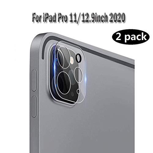 Aerku Kamera Panzerglas Schutzfolie für iPad Pro 12.9 / iPad Pro 11 (2020), [Vollständige Abdeckung] Kamera Panzerglasfolie Displayfolie [2 Stück] 9H Härte HD Transparenz Anti-Kratzen Protector