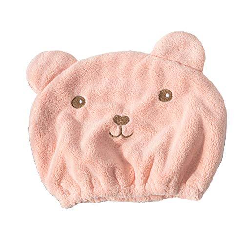 BABI Wrap turbante servet, een handdoek turban, muts met haarservet, nachtzicht en Dolce out, haarservet voor alle haartypes (24 x 27 cm, kleur roze)