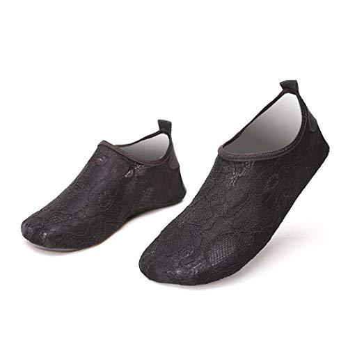 GGPUS Kant zwemmen upstream schoenen strand snelheid interferentie water schoenen snorkelen op blote voeten outdoor sport strand schoenen,Zwart, 40/41