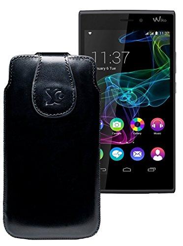 Original Suncase Tasche für / BlackBerry Leap / Leder Etui Handytasche Ledertasche Schutzhülle Hülle Hülle / in schwarz
