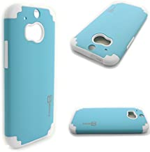 HTC One (m8) Case Armor (Sky Blue/White) CoverON Slim Protective Hybrid Phone Cover for HTC One (m8)