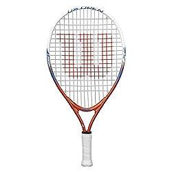 "professional Wilson Youth US Open Outdoor Racket-Orange Blue, 19 """