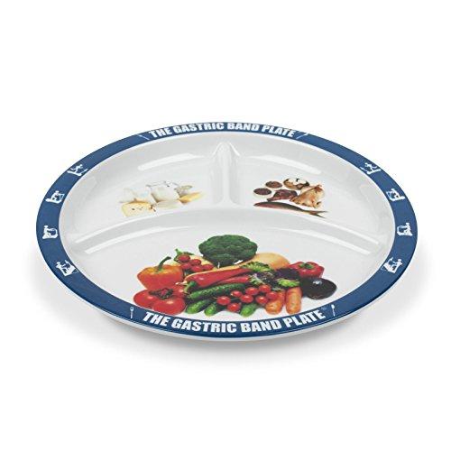 The Gastric Band Plate: Teller für Gewichtsverlust und Diät-Portionskontrolle – Doppelpack