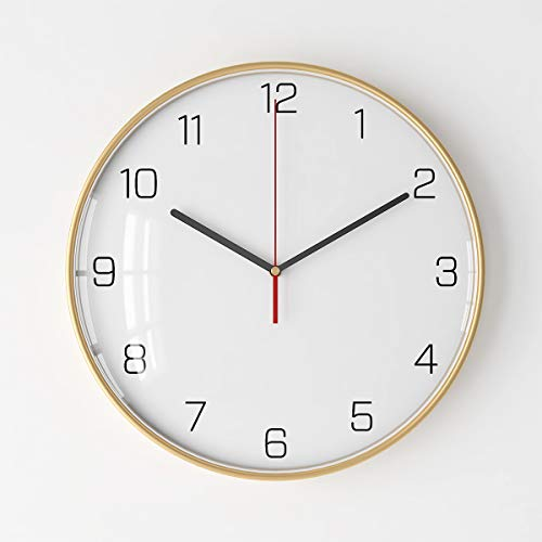 XMBT Vintage Design runde stille, Nicht tickende, batteriebetriebene Qualitätsquarzuhr der Küche-Wanduhr Silent Non Ticking Wanduhr Wand Wohnzimmer Uhr,Size:37Inch