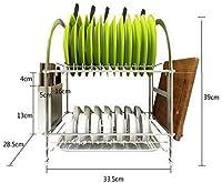 MTCGH ディッシュラック、ディッシュドレイナーラックキッチンスパイス収納棚箸プレート食器収納ラックドレンバスケット物干しラック
