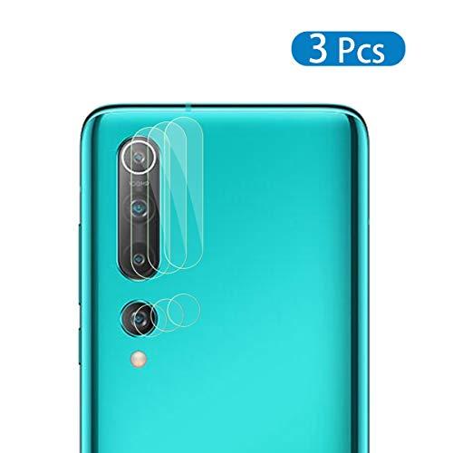 QULLOO Kamera Panzerglas Schutzfolie für Xiaomi Mi 10, [3 Stück] 9H Härte Kamera Linse Panzerglasfolie Anti-Kratzen Kameraschutz für Xiaomi Mi 10