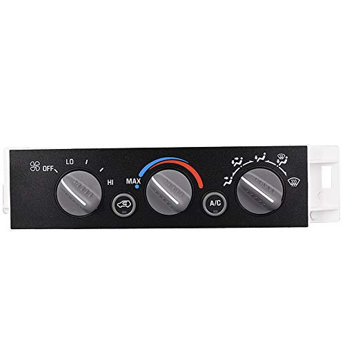 Heater A/C Control Switch Panel Module without Rear Window Defogger Fits for 1996-2002 Chevy GMC Pickup Truck Replaces 9378815 599-007 16238895