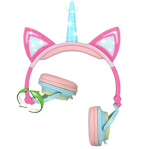 41CaL8u FoL - Kids Headphones for Kids Disney Princess Adjustable Stereo Tangle-Free 3.5mm Jack Wired Cord Over Ear Headset for Children Parental Volume Control Kid Friendly Safe Perfect for School Home Travel