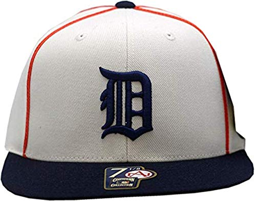 Detroit Tigers Fitted Hat 1934 Cooperstown Collection (7 1/2) White/Navy