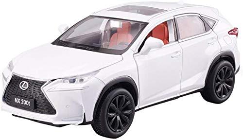 hclshops Vehículo Modelo de Coche Lexus NX200T Todoterreno 1,32 analógico a presión de aleaciones de luz y Sonido Tirar hacia atrás del Juguete Modelo de Coche 15x6x5.5CM (Color, Azul), Gris