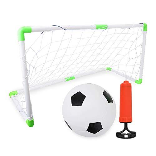 LJPzhp Portería de Fútbol Fútbol Postes for niños MovingTraining Juegos de fútbol Neto Regalo Juguetes for niños Regalo de cumpleaños (Color : As Shown, Size : 100x43x55cm)