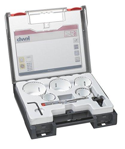 kwb 598210.0 Profi Bi-Metall Lochsäge-Set für Elektriker – 7-teilig, HSS-CO, Vario Zahnung, 8 % Cobalt inkl. Spannungsprüfer
