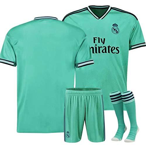 ONBaoFu 2019-2020 Fußballtrikot mit personalisierbarem Namen und Nummer, Unisex, für Erwachsene und Kinder, Herren, OBUKNew Real Madrid-2Away 162-170cm S, Real Madrid 2 Away 19-20, Adult S/162-170cm