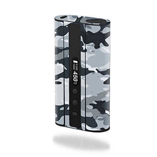 MightySkins Skin Compatible with Eleaf iStick 100W TC – Gray Camouflage | Protective, Durable, and Unique Vinyl Decal wrap Cover | Easy to Apply, Remove, and Change Styles | Made in The USA