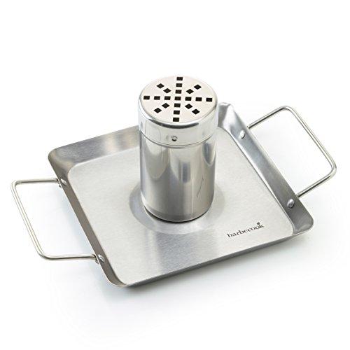 Preisvergleich Produktbild barbecook Ständer Halter Grill-Zubehör Hähnchen-Halterung matt mit Abtropf-Schale,  Silber