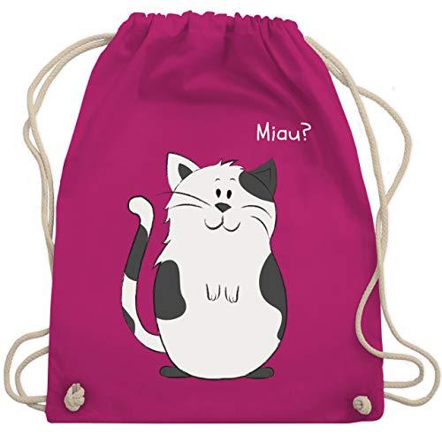 Shirtracer Tiermotive Kind - lustige Katze - Unisize - Fuchsia - WM110 - Turnbeutel und Stoffbeutel aus Bio-Baumwolle