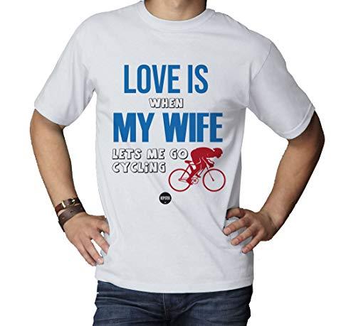 Divertida camiseta de ciclismo con texto en inglés para hombre, regalo de cumpleaños, San Valentín o para el día del padre, marca Kepster, Blanco, Medium