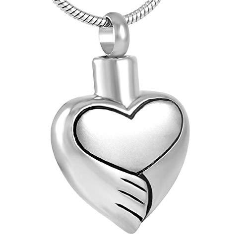 maxiBurn Belt Collar De Cenizas Hold Love Heart Joyería De Cremación En Collares Pendientes Soporte De Ceniza De Acero Inoxidable para Mujeres Charm