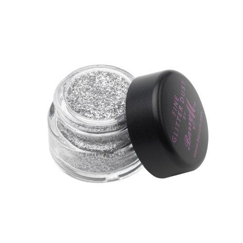 Barry M - Polvo de sombra de ojos que relucir - Multa Glitter polvo Nr. 4 - Silver (Plata)