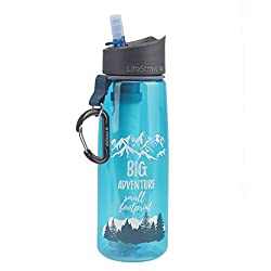 LifeStraw Go Water Filter Bottle with 2-Stage Integrated Filter Straw for...