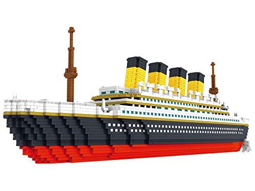 N/A 3800PCS Titanic 3D Modelo Barco Modelo Edificio Ladrillo Edificio Ladrillo Regalo De Ladrillo 60cm * 16.5cm/Mira Las Fotos.
