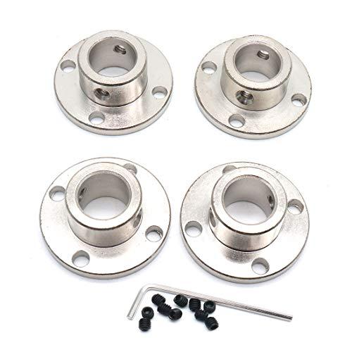 Sydien 12mm Rigid Flange Shaft Coupling Motor Guide Shaft Coupler Connector 4 Pcs